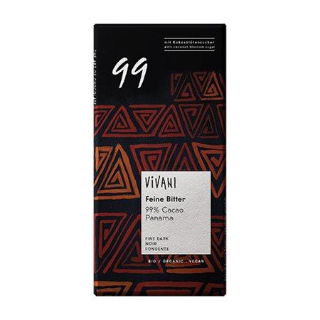 99% mørk chokolade Vivani Ø