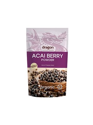 Acai bær pulver Ø - Dragon  Superfoods