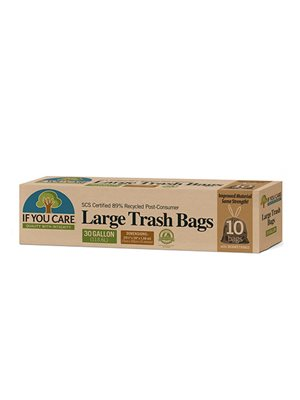 Affaldsposer m. snørreluk  genbrugsplast