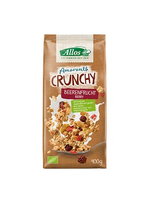 Amaranth Crunchy Mysli  Red fruit, Wild berry Ø  Allos