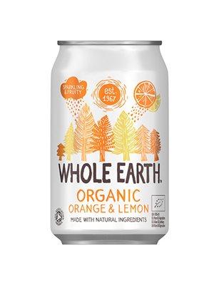 Appelsin/citron sodavand Ø Whole Earth