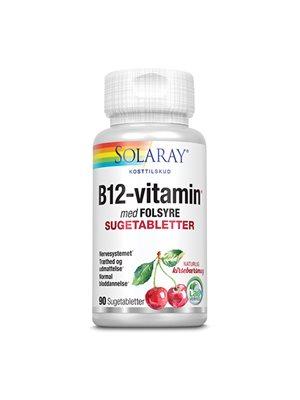 B12 vitamin med folsyre  1000 mcg suget