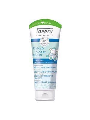 Baby&Børn Neutral mild  bademælk og shampoo i ét Lavera