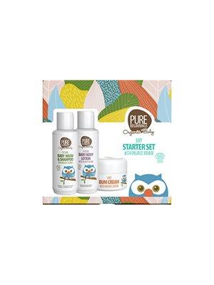 Baby gift set Pure Beginnings Baby wash & shampoo, baby lotion, baby bum cream
