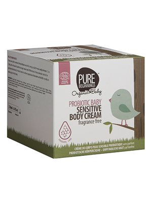 Baby sensitive body cream fragrance free Pure Beginnings