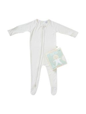 Baby sparkedragt beige nyfødt
