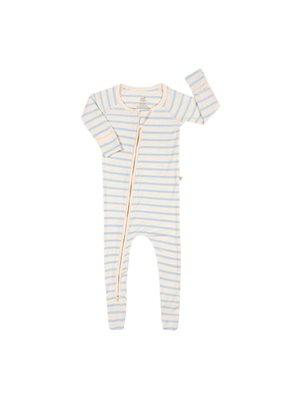 Baby sparkedragt stribet  hvid/blå 6-12 mdr