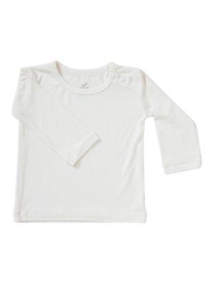 Baby T-shirt langærmet beige 6 -12 mdr