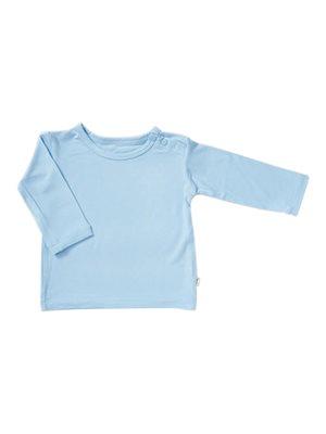 Baby T-shirt langærmet blå 6- 12 mdr
