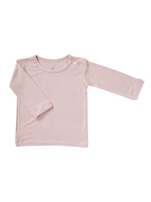 Baby T-shirt langærmet rose 3- 6 mdr