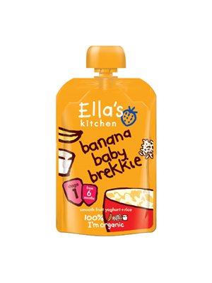 Babymos banan, yoghurt & ris 6 mdr Ø Ellas Kitchen