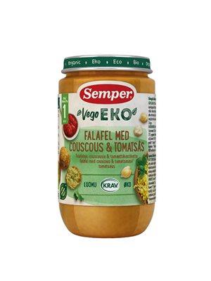 Babymos falafel, couscous, tomat fra 12 mdr Ø