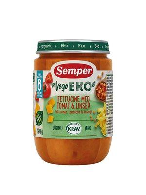 Babymos fettucine tomat & linser fra 8 mdr. Ø