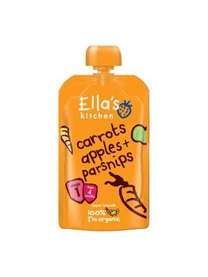 Babymos gulerod, æble &  pastinak 4 mdr Ø Ellas Kitchen
