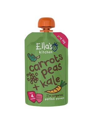 Babymos gulerod, ærter &  grønkål 4 mdr Ø