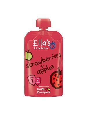 Babymos jordbær & æble 4 mdr   Ø Ellas Kitchen