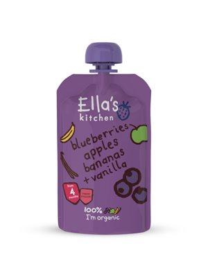 Babymos Ø blåbær, æble, banan & vanilje 4 mdr Ellas Kitchen