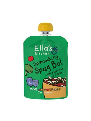 Babymos Ø spaghetti bolognese  7 mdr Ellas Kitchen