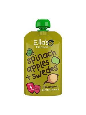 Babymos Ø spinat, æble  & kålroer 4 mdr Ellas Kitchen