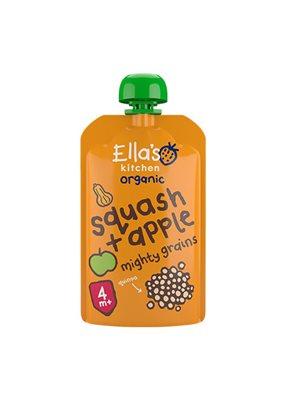 Babymos Ø squash, æble & quinoa, 4 mdr Ellas Kitchen