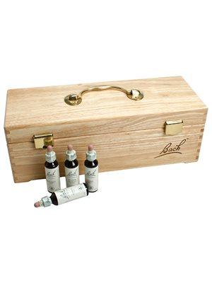 Bach komplet sæt i træboks 38xremedier,2x20ml.rescue cr.2x30 ml.flasker
