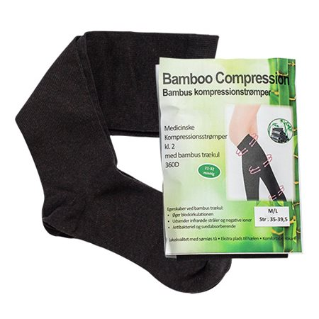 Bambus kompressionsstrømper M/L (RAL) 2 stk. kl. 2 Str. M/L Bamboo Pro