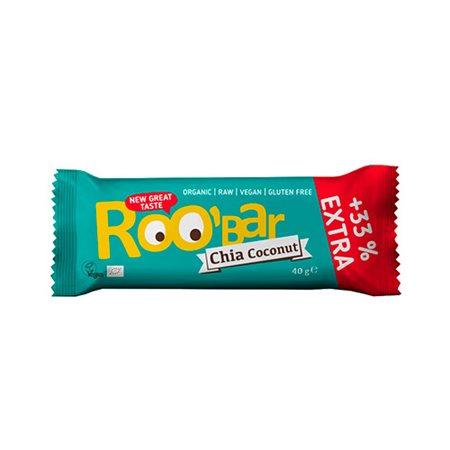 Bar chia kokosnød Ø Roobar  100% Raw