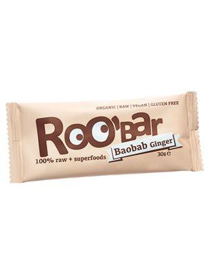 Bar m.baobab & ingefær Ø Raw  Roobar