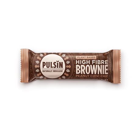 Bar med Peanut Choc chip raw choc brownie Pulsin