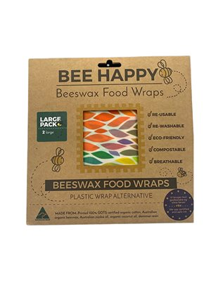 Beeswax Food Wraps 2 x Large