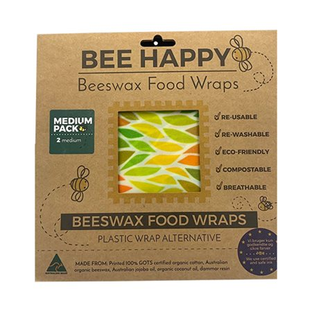 Beeswax Food Wraps 2 x Medium