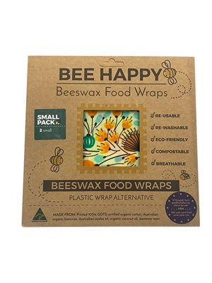 Beeswax Food Wraps 2 x Small