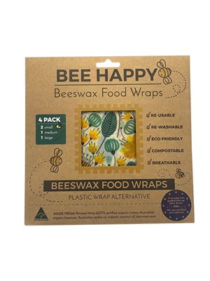 Beeswax Food Wraps 4 Pack