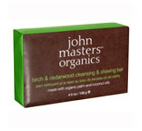 Birch & Cedarwood Cleansing  &Shaving Bar John Masters Sæbe til barbering