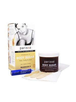 Body sugar chamomile for ben, krop og ansigt Parissa