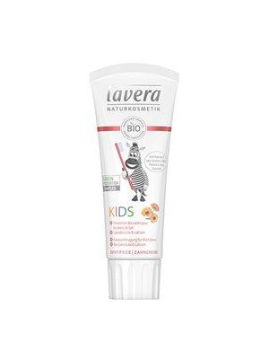 Børnetandpasta Basis Sensitiv jordbær/hindbær og morgenfrue Lavera