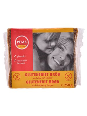 Brød i skiver glutenfri Pema Med chiafrø og hørfrø