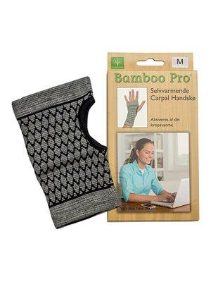 Carpal handske, Str. M selvvarmende  Bamboo Pro