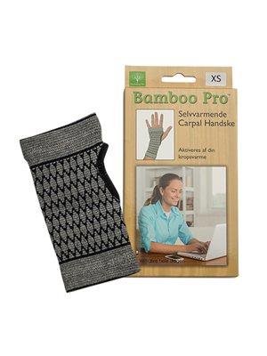 Carpal handske, Str. XS   selvvarmende  Bamboo Pro