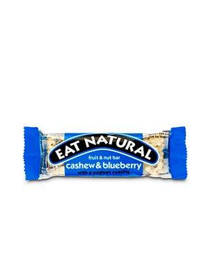 Cashew og blåbær med youghurt overtræk Eat Natural