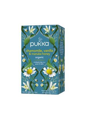 Chamomile, Vanilla & Manuka honey te Ø Pukka