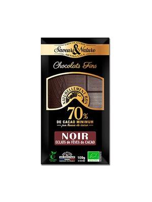 Chokolade 70% Kakaonibs Ø Mørk