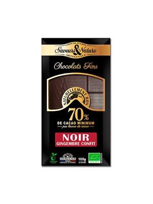 Chokolade 70% m. ingefær kandiseret Ø