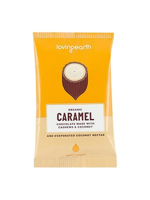 Chokolade Caramel Ø m cashew & kokos Loving Earth