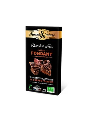 Chokolade fyldt mørk 70% m.chokoladeganache Ø m. chokoladaganache - 18 stk