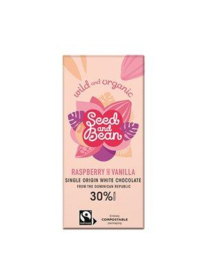Chokolade Hvid Hindbær & Vanille Ø Seed & Bean