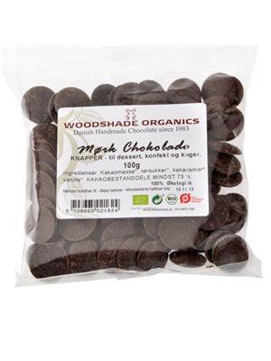 Chokolade knapper mørk Ø