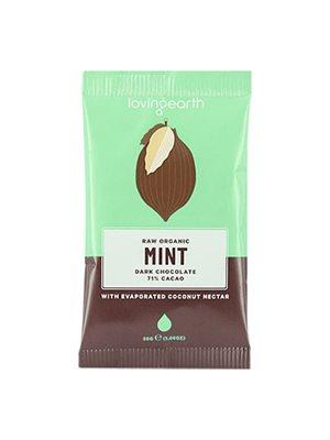 Chokolade Mint Ø m mynte og 71% kakao Loving Earth