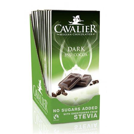 Chokolade mørk 85% Cavalier m. stevia