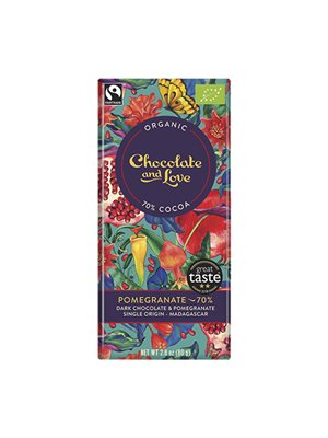 Chokolade Pomegranate 70%  Chocolate and Love
